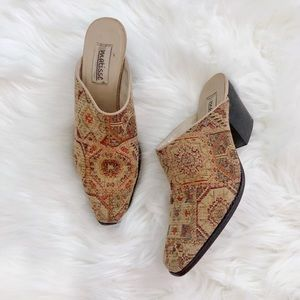 Vintage Matisse Tapestry Mules size 7